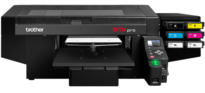 The Brother GTX pro Direct to garment printer